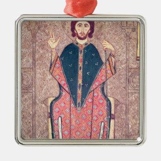 San Martín de viajes, detalle de un altar Adorno Navideño Cuadrado De Metal