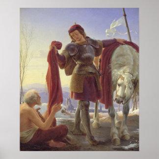 San Martín y el mendigo, 1836 Póster