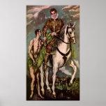 San Martín y el mendigo de El Greco, circa 1600 Impresiones
