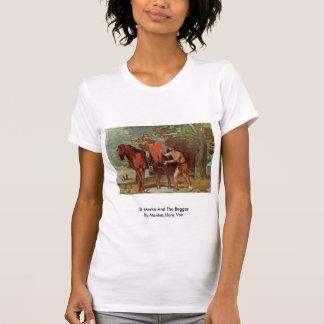 San Martín y el mendigo de Marées Hans Von Camisetas