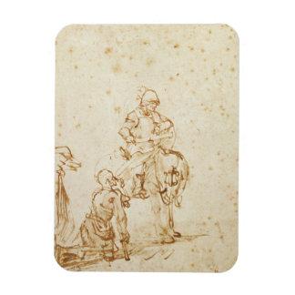 San Martín y el mendigo (pluma y tinta en el papel Iman De Vinilo