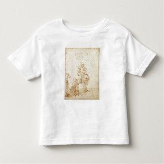 San Martín y el mendigo (pluma y tinta en el Remeras