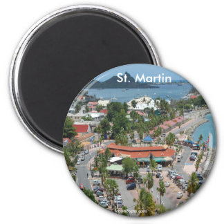 San Martín y foto de la bahía de Marigot Imán Para Frigorifico