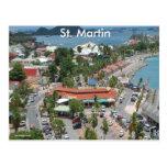 San Martín y foto de la bahía de Marigot Tarjeta Postal