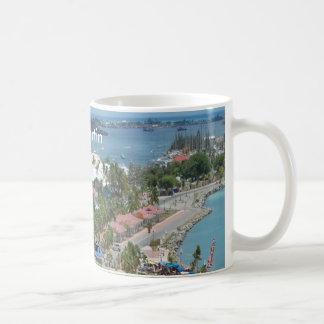 San Martín y foto de la bahía de Marigot Taza De Café