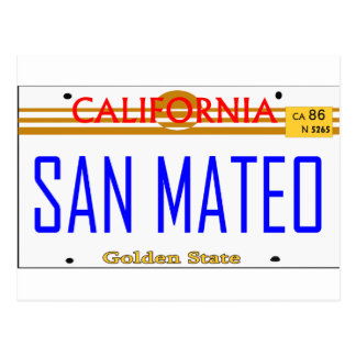 San Mateo, Ca Lincense -- Camiseta Tarjetas Postales