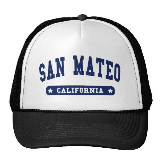 San Mateo California College Style tee shirts Hat