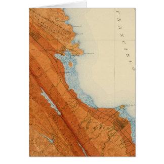 San Mateo quadrangle showing intensity, faults Card