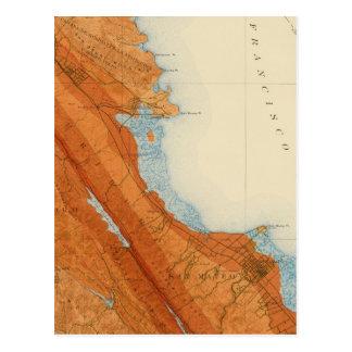 San Mateo quadrangle showing intensity, faults Postcard