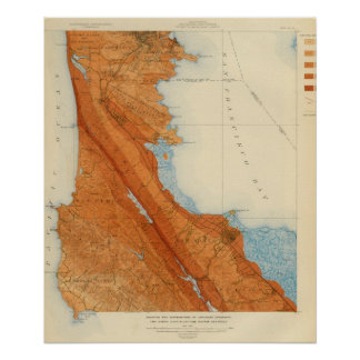 San Mateo quadrangle showing intensity, faults Poster