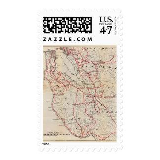 San Mateo, Santa Cruz, Santa Clara, Alameda Postage Stamp