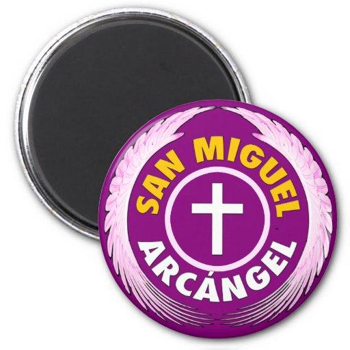 San Miguel Arcangel Imán Redondo 5 Cm