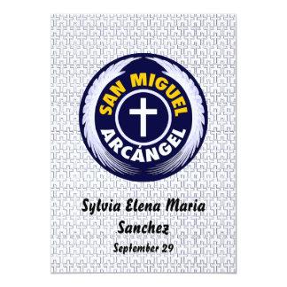 San Miguel Arcangel invita Invitación 12,7 X 17,8 Cm
