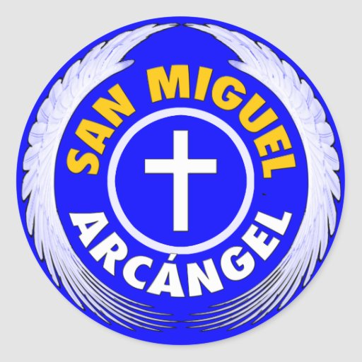 San Miguel Arcangel Pegatina Redonda
