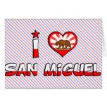 San Miguel, CA Felicitacion