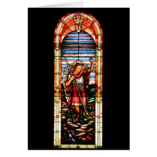 San Miguel contra el dragón Tarjeta De Felicitación