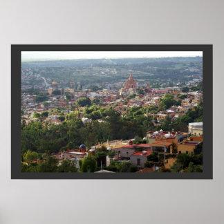 San Miguel de Allende High View Print