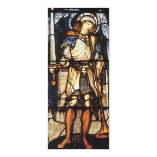 """San Miguel de Burne Jones, arcángel del vintage Invitación 4"""" X 9.25"""""""