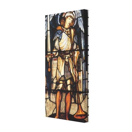San Miguel de Burne Jones, arcángel del vintage Impresión En Lona Estirada