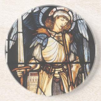 San Miguel de Burne Jones, arcángel del vintage Posavaso Para Bebida