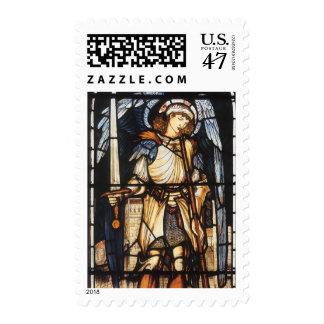 San Miguel de Burne Jones, arcángel del vintage Sellos Postales
