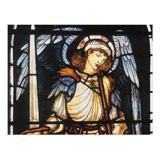 San Miguel de Burne Jones, arcángel del vintage Tarjetas Postales