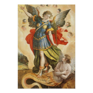 San Miguel derrota arte renacentista del vintage d Poster