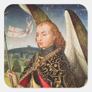 San Miguel el arcángel, 1460-66 Pegatina Cuadrada
