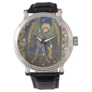 San Miguel el arcángel con el diablo Relojes De Pulsera
