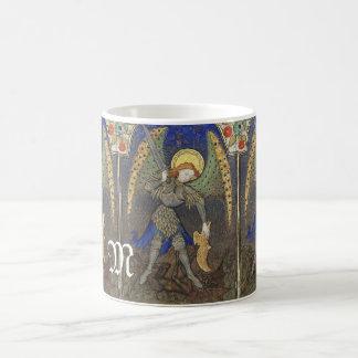 San Miguel el arcángel con el diablo Taza Clásica