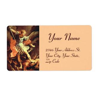 San Miguel el arcángel Etiqueta De Envío