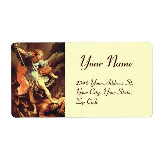 San Miguel el arcángel Etiquetas De Envío