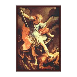 San Miguel el arcángel Impresión En Lienzo