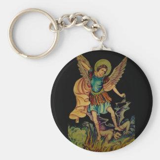 San Miguel el arcángel Llavero Redondo Tipo Pin