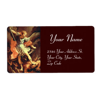 San Miguel el arcángel, marrón Etiqueta De Envío