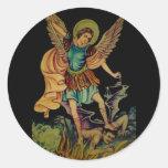 San Miguel el arcángel Pegatina Redonda