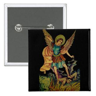 San Miguel el arcángel Pin Cuadrada 5 Cm