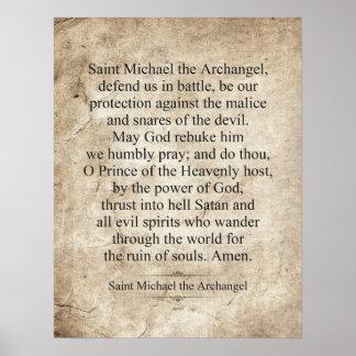 San Miguel el arcángel Póster