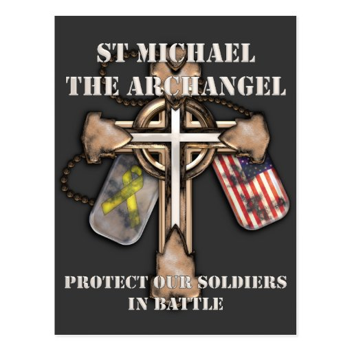San Miguel el arcángel - proteja a nuestros Postal