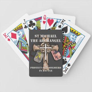 San Miguel el arcángel - proteja a nuestros soldad Baraja Cartas De Poker