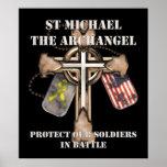 San Miguel el arcángel - proteja a nuestros soldad Posters