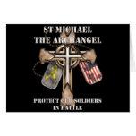 San Miguel el arcángel - proteja a nuestros Tarjeta De Felicitación