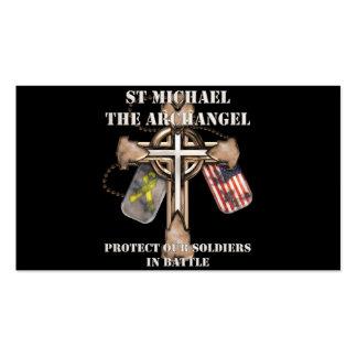 San Miguel el arcángel - proteja a nuestros Tarjetas De Visita