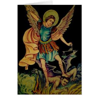 San Miguel el arcángel Tarjeta De Felicitación