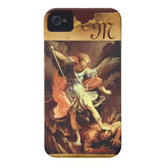 San Miguel el monograma del arcángel iPhone 4 Case-Mate Carcasa