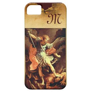San Miguel el monograma del arcángel iPhone 5 Case-Mate Fundas