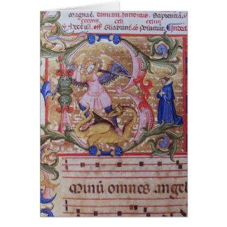 San Miguel el rezo del arcángel Tarjeta De Felicitación