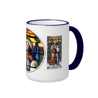 San Miguel el vitral del arcángel Taza De Dos Colores