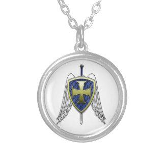 San Miguel - escudo de la escala del dragón Colgante Redondo