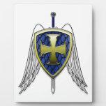 San Miguel - escudo de la escala del dragón Placas Para Mostrar